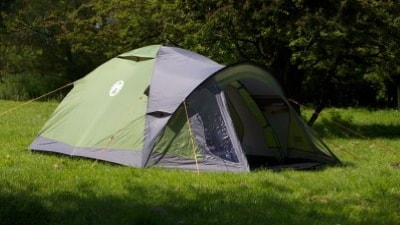 Ouside view of a tent dome