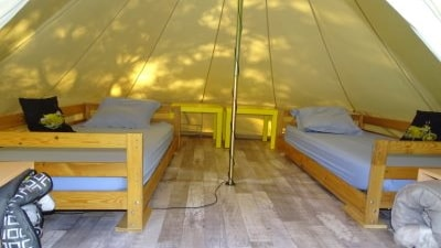 Inside view of a teepee
